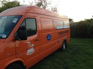 911 Restoration Birmingham Van at Job Location