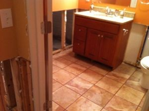 Water Damage Bathroom Restoration Repairs