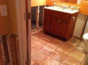 Water Damage Bathroom Restoration Repairs