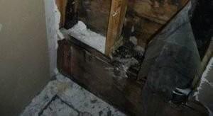 Mold Damage Restoration Of Closet Wall